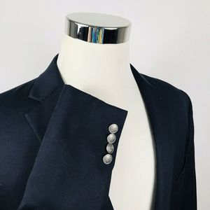 Michael Kors 42R Blazer Black Silver Two Button